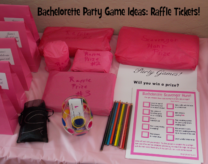 Bachelorette Party Game Ideas: Raffle Tickets!