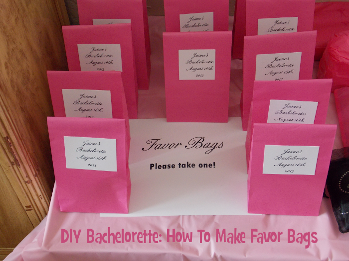 DIY Bachelorette Party Favors How To Make Favor Bags