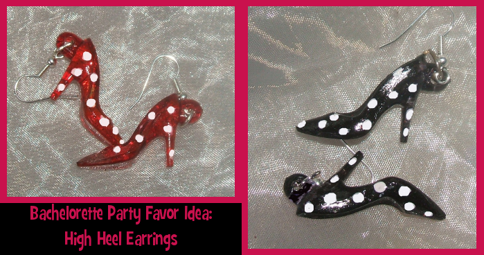 Bachelorette Party Favor Idea: High Heel Earrings