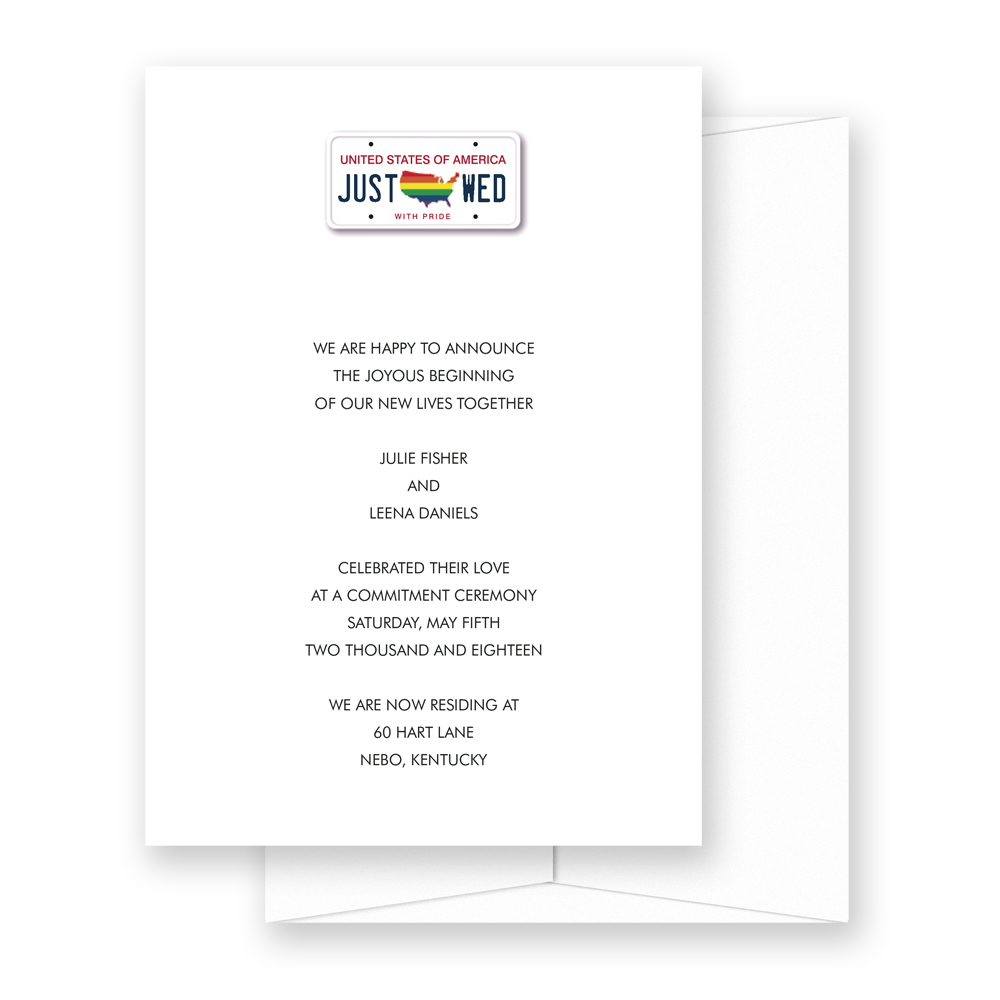 Hitched USA Wedding Invitation Design in Honor of Marriage Equality