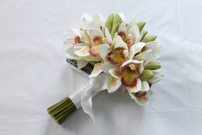 Mini Cymbidium Orchid Bridal Bouquet