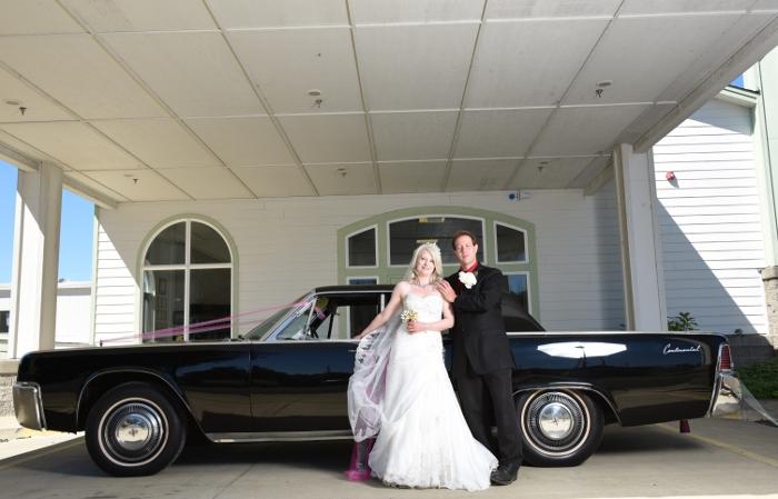 Our wedding getaway car
